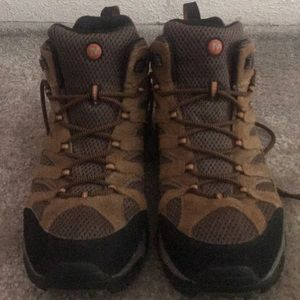 Merrill Brown Suede Waterproof Hiking Boots SZ 12